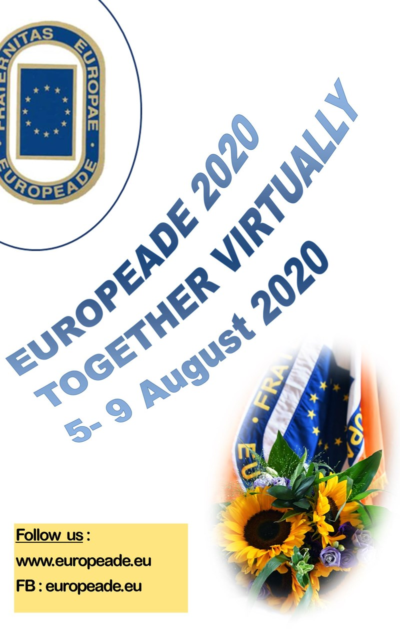 Raise your Europeade flag at home from August 5th to August 9th !